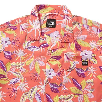 THE NORTH FACE Shirts Flower Patterns Short Sleeves Logo Outdoor Shirts 7