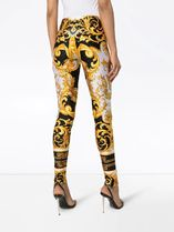 VERSACE Printed Pants Tropical Patterns Long Party Style