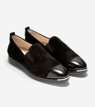 Cole Haan Leopard Patterns Plain Leather Elegant Style Formal Style