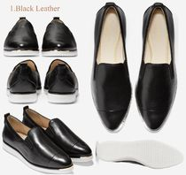 Cole Haan Leopard Patterns Casual Style Plain Leather Office Style