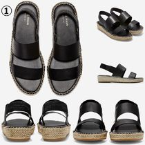 Cole Haan Open Toe Platform Casual Style Street Style Sandals