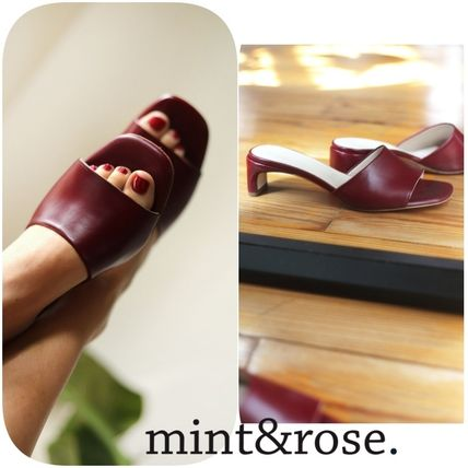 Casual Style Leather Elegant Style Sandals