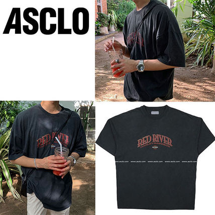 ASCLO More T-Shirts Street Style Cotton Short Sleeves Logo T-Shirts