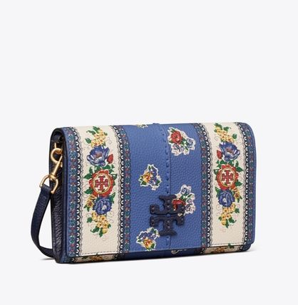 Tory Burch MCGRAW Flower Patterns Casual Style 2WAY Leather Party Style
