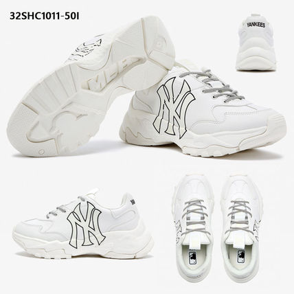 Unisex Street Style Plain Logo Low-Top Sneakers