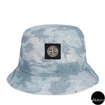 STONE ISLAND Unisex Bucket Hats Military Wide-brimmed Hats