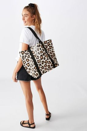 Gingham Leopard Patterns A4 Shoppers