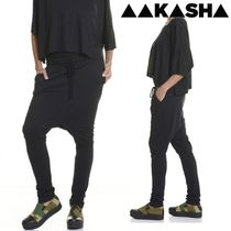 Aakasha Casual Style Plain Cotton Long Handmade Sarouel Pants