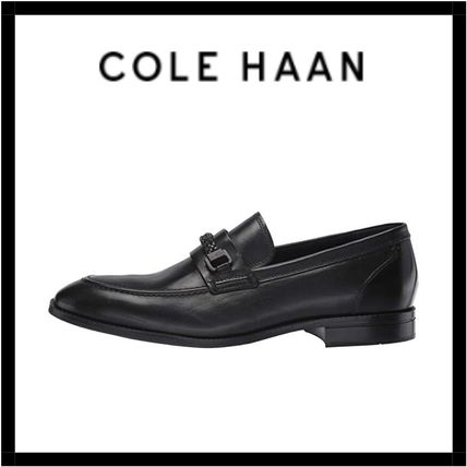 Loafers Street Style Plain Leather U Tips Loafers & Slip-ons