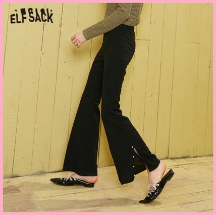 ELF SACK Casual Style Plain Long Party Style With Jewels Office Style