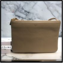 CELINE Trio Bag Casual Style Leather Elegant Style Formal Style