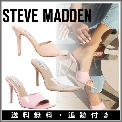 Steve Madden Mules Formal Style  Sheer Open Toe Square Toe Casual Style