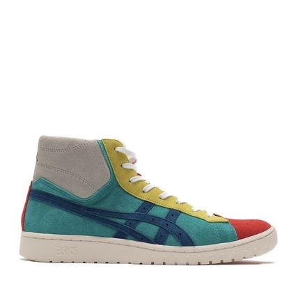 Unisex Collaboration Leather Logo Sneakers