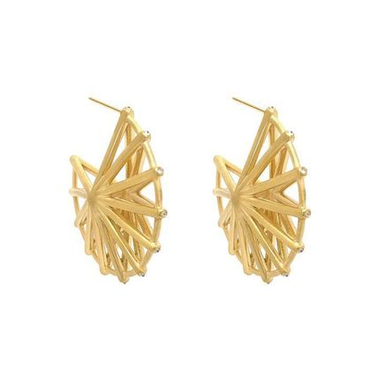 Casual Style Blended Fabrics Party Style Brass 22K Gold