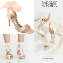 Badgley Mischka Open Toe Lace-up Plain Pin Heels Party Style Elegant Style