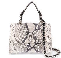 ERMANNO SCERVINO Casual Style Leather Party Style Python Elegant Style