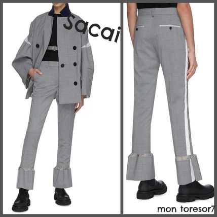 Casual Style Wool Plain Long Pants