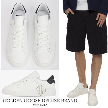 Unisex Street Style Leather Logo Sneakers
