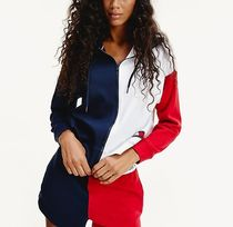 Tommy Hilfiger Street Style Long Sleeves Cotton Logos on the Sleeves Logo