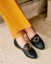 SEZANE Plain Leather Loafer & Moccasin Shoes