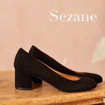 SEZANE Plain Leather Pumps & Mules