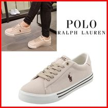 POLO RALPH LAUREN Casual Style Logo Low-Top Sneakers