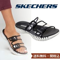 SKECHERS Open Toe Square Toe Round Toe Casual Style Blended Fabrics