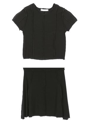 Short Casual Style Street Style Co-ord Skirts