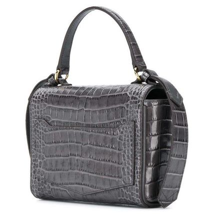 Crocodile Leather Crossbody Logo Shoulder Bags