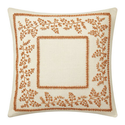 Flower Patterns Blended Fabrics Fringes Decorative Pillows
