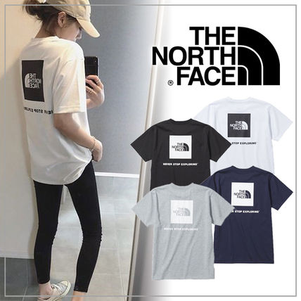 THE NORTH FACE Logo Outdoor Crew Neck Unisex Plain Short Sleeves
