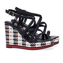Tommy Hilfiger Open Toe Platform Casual Style Bi-color Party Style