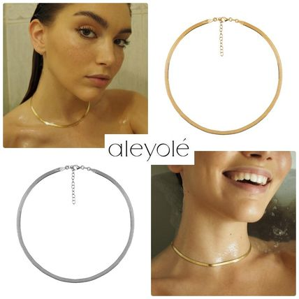 Casual Style Street Style Silver 18K Gold Elegant Style