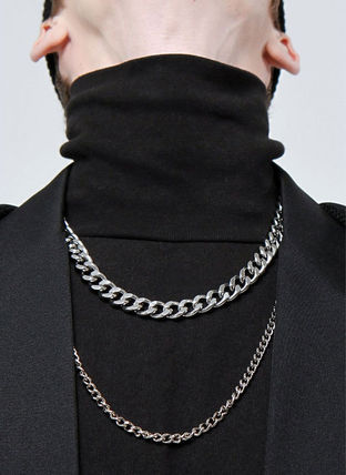 Unisex Street Style Plain Stainless Chain Necklaces