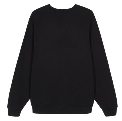 STUSSY Sweatshirts Crew Neck Pullovers Street Style Long Sleeves Plain Cotton 3