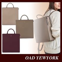 OAD NEW YORK Casual Style Suede 3WAY Plain Leather Office Style