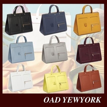 Casual Style Suede 2WAY Plain Leather Office Style