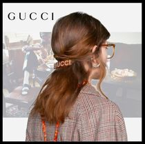 GUCCI Barettes Casual Style Party Style Elegant Style Clips