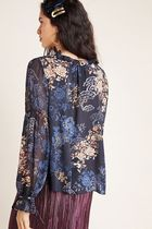 Anthropologie Flower Patterns Casual Style Long Sleeves Medium Party Style