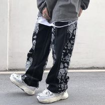 More Jeans Printed Pants Paisley Denim Street Style Plain Cotton 6