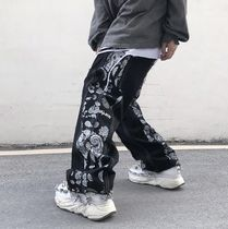 More Jeans Printed Pants Paisley Denim Street Style Plain Cotton 7