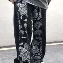 More Jeans Printed Pants Paisley Denim Street Style Plain Cotton 13