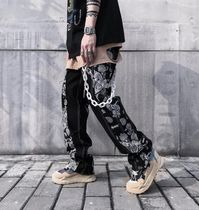 More Jeans Printed Pants Paisley Denim Street Style Plain Cotton 16