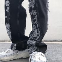 More Jeans Printed Pants Paisley Denim Street Style Plain Cotton 19
