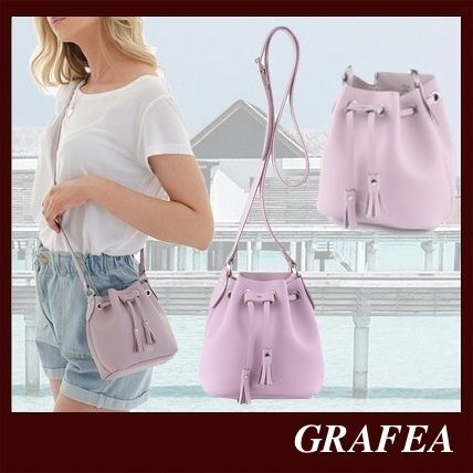 Casual Style Plain Leather Party Style Purses Elegant Style