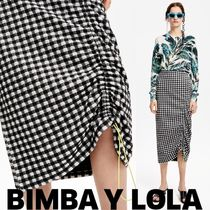 bimba & lola Gingham Casual Style Medium Midi Skirts