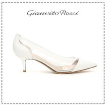 Gianvito Rossi Casual Style Blended Fabrics Plain Leather Pin Heels