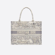 Christian Dior BOOK TOTE Casual Style A4 Other Animal Patterns Logo Totes