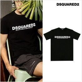 D SQUARED2 More T-Shirts Linen Street Style U-Neck Plain Short Sleeves T-Shirts 2