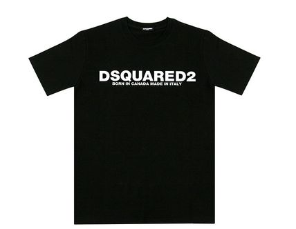 D SQUARED2 More T-Shirts Linen Street Style U-Neck Plain Short Sleeves T-Shirts 4